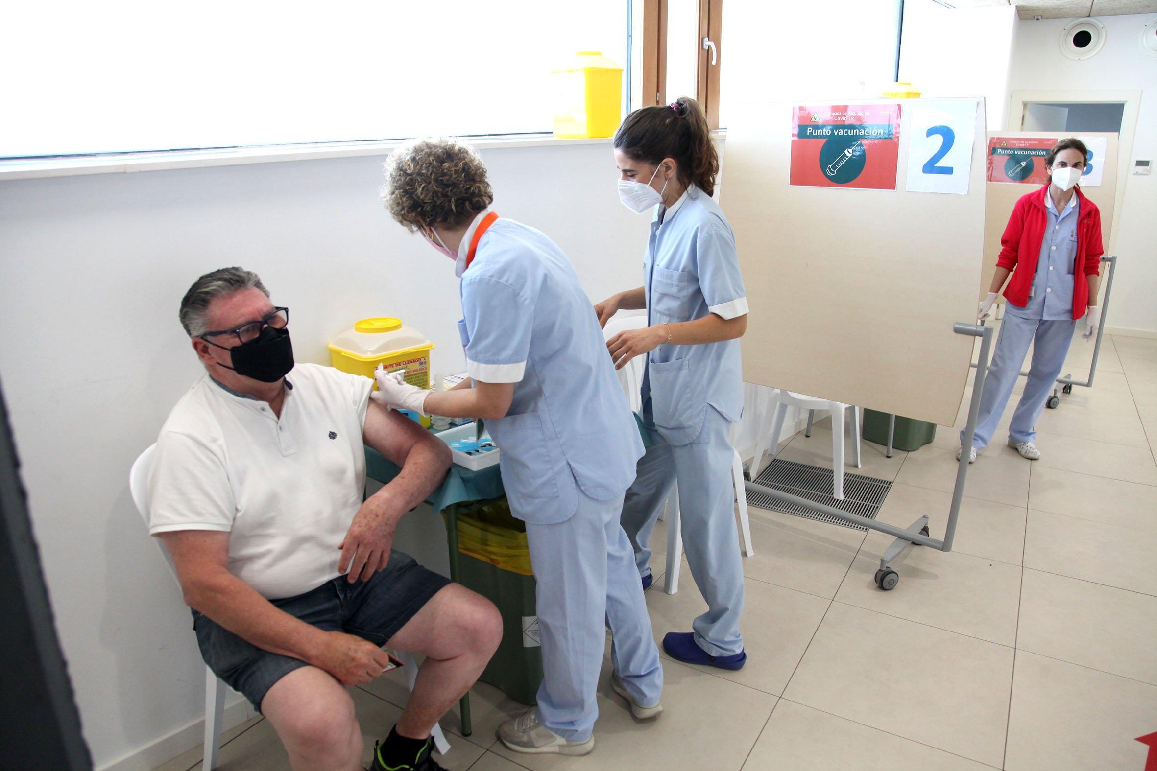 Foto archivo: Vacunación masiva en Xàbia