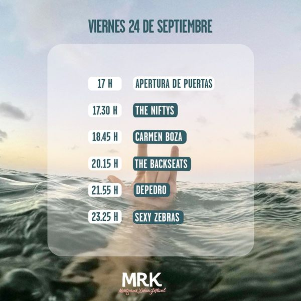 Imagen: Horarios concierto viernes