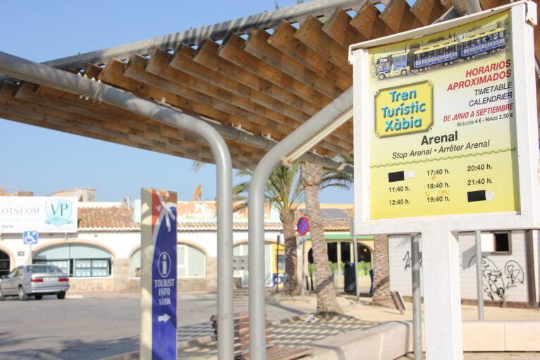 Horarios de salida del Tren Turístico desde el Arenal