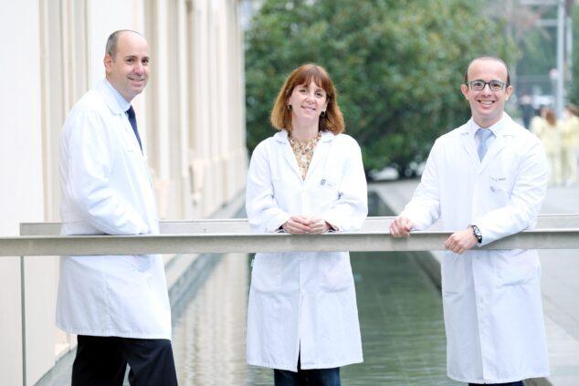 Imagen: IBCC Dr Javier Cortés, Dra Laia Garrigós y Dr José Manuel Pérez