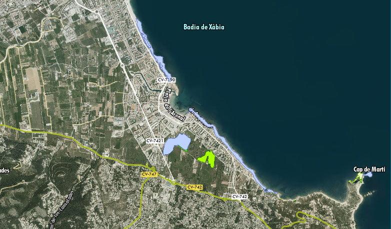 Impacto en la costa de Xàbia
