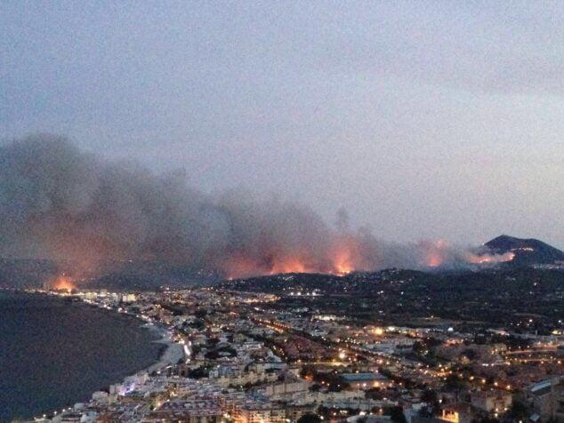 Imagen: Incendio de la Granadella en 2016