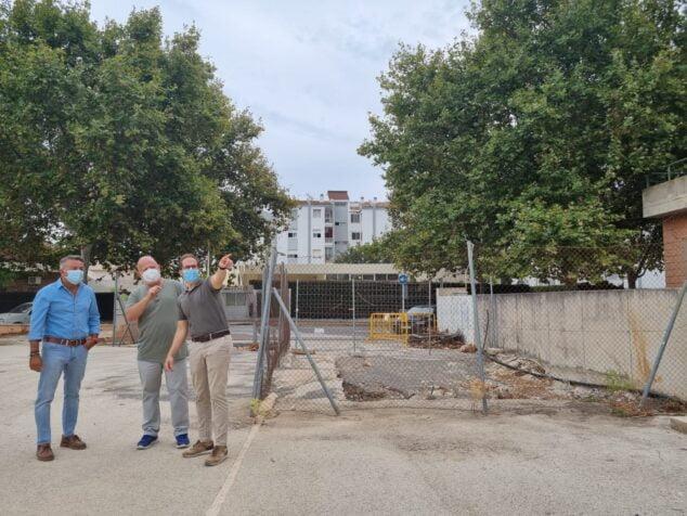 Imagen: Inicio de las obras de la piscina municipal de Xàbia
