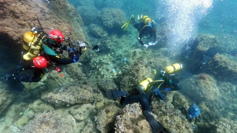 Inmersión en el hallazgo de monedas romanas