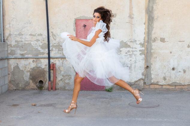 Imagen: Juliette Slama en una sesión de fotos