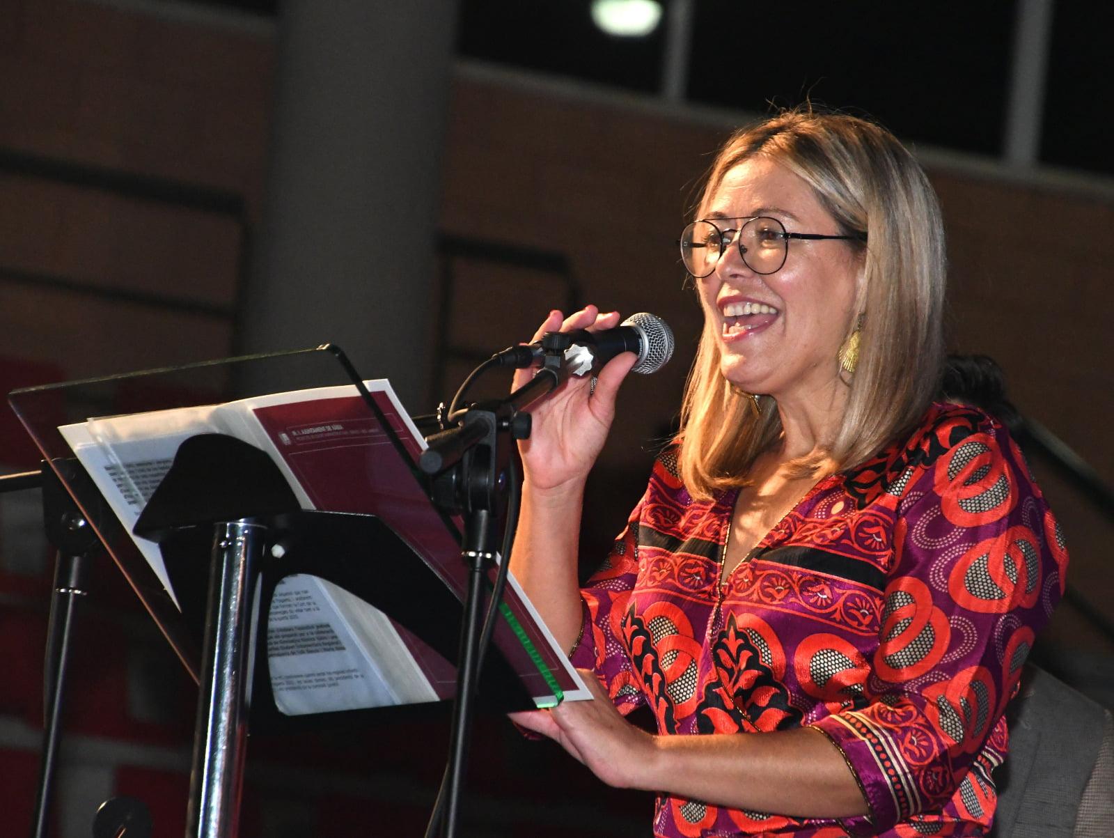 La concejala de Fiestas, Kika Mata, durante el acto de elección de cargos 2020