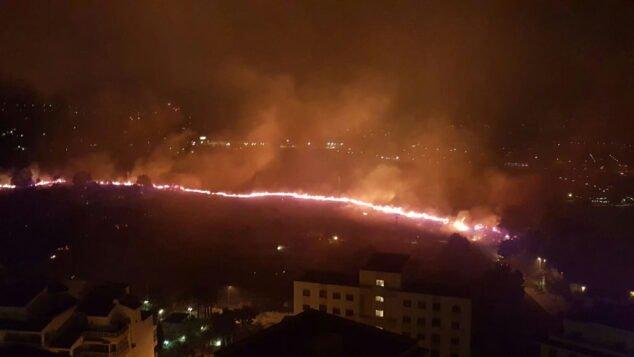Imagen: Muralla de fuego en el Parque de la Granadella