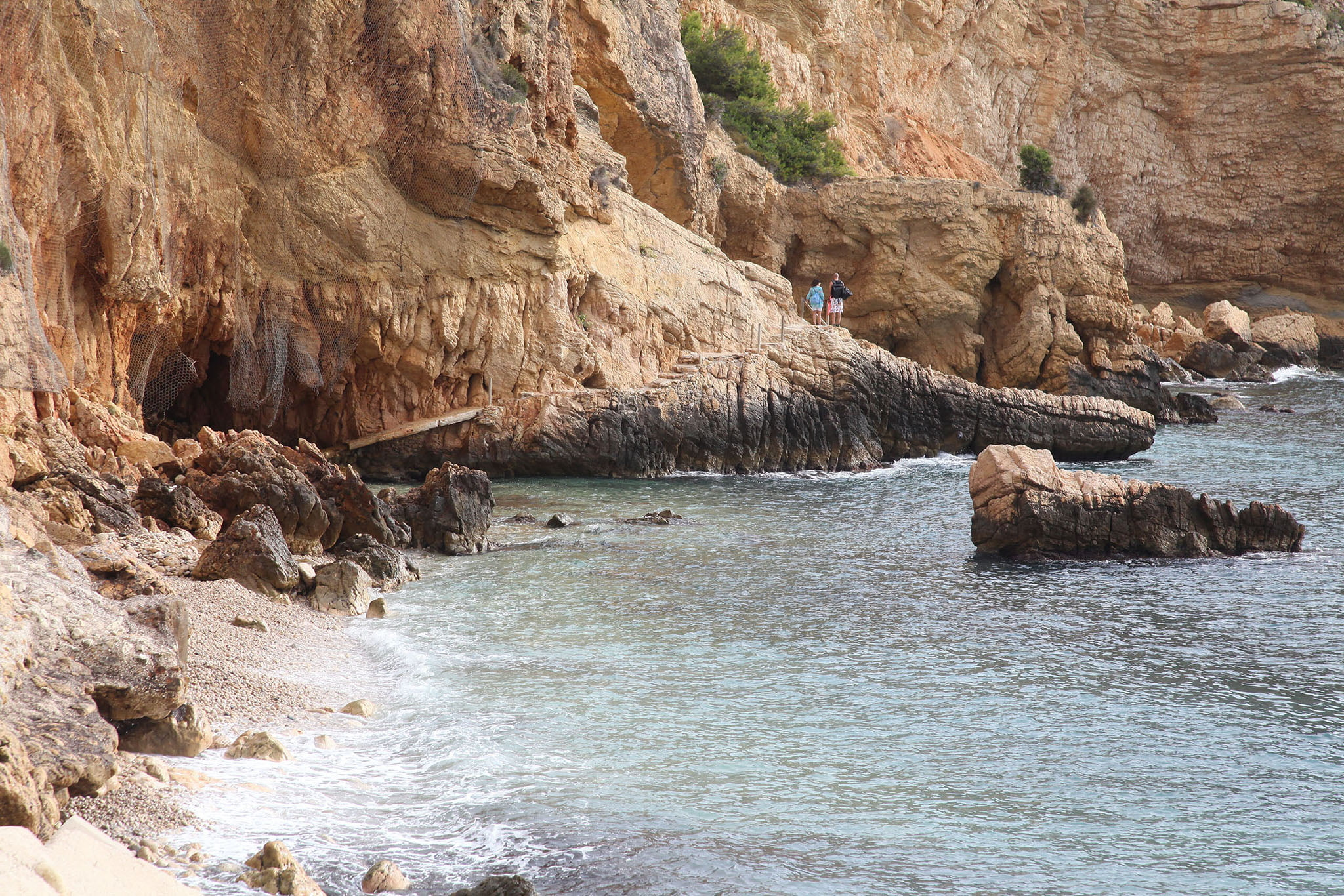 Parte rocosa de la Cala del Tangó