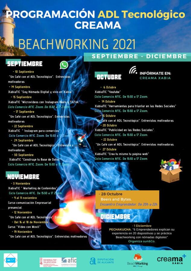 Imagen: Programación del Beachworking 2021