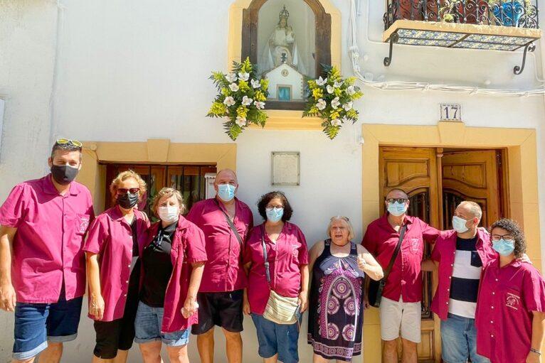 Visita a la Virgen de Loreto en el centro histórico