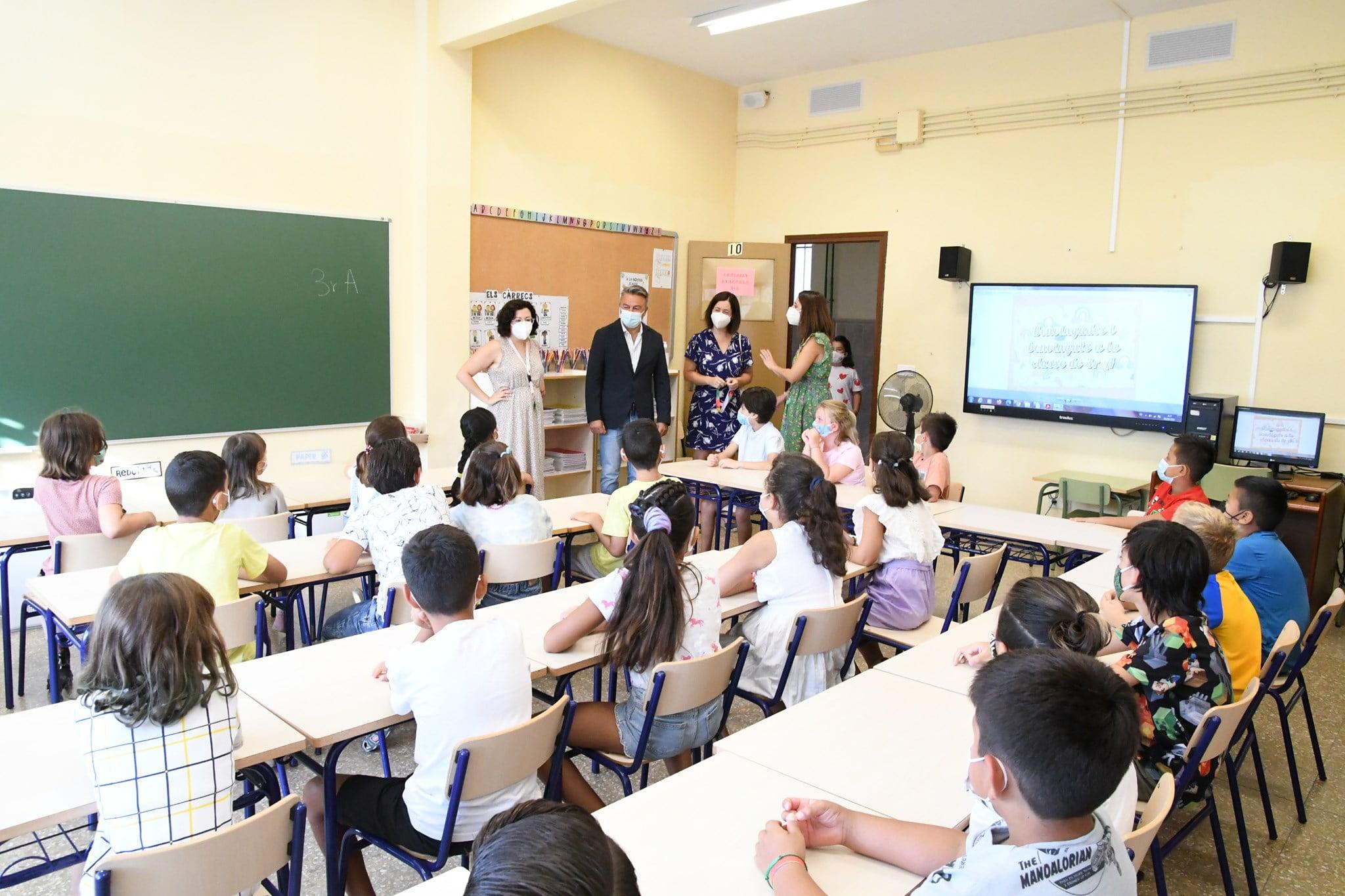 Visita a las aulas en el inicio del cole