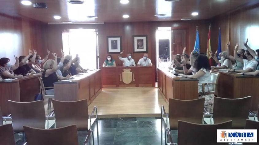 Votación unánime en el pleno municipal