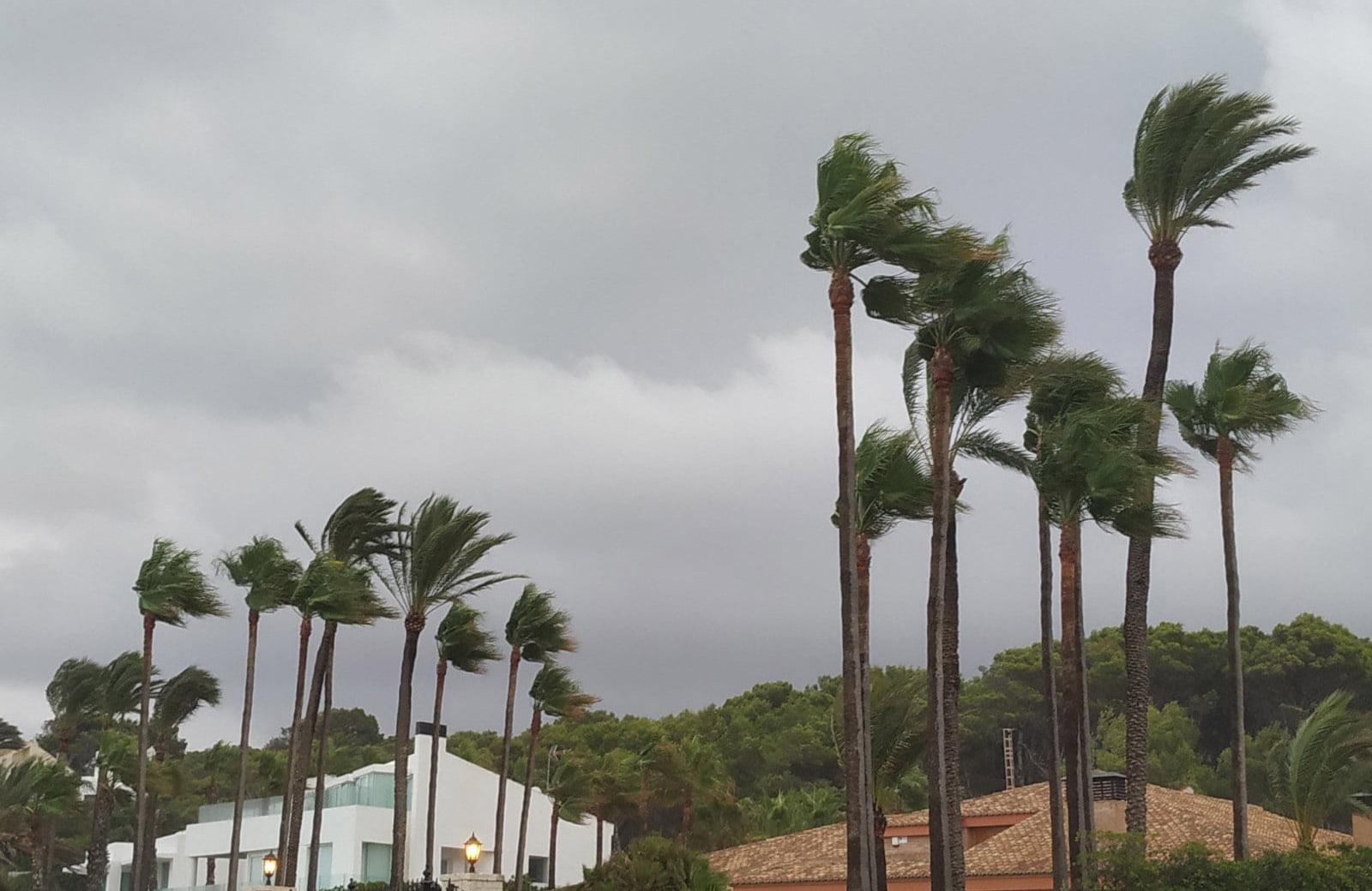 Xàbia registra fuertes rachas de viento