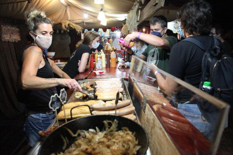 Zona de Foodtruck en el Montgorock Xàbia Festival 2021