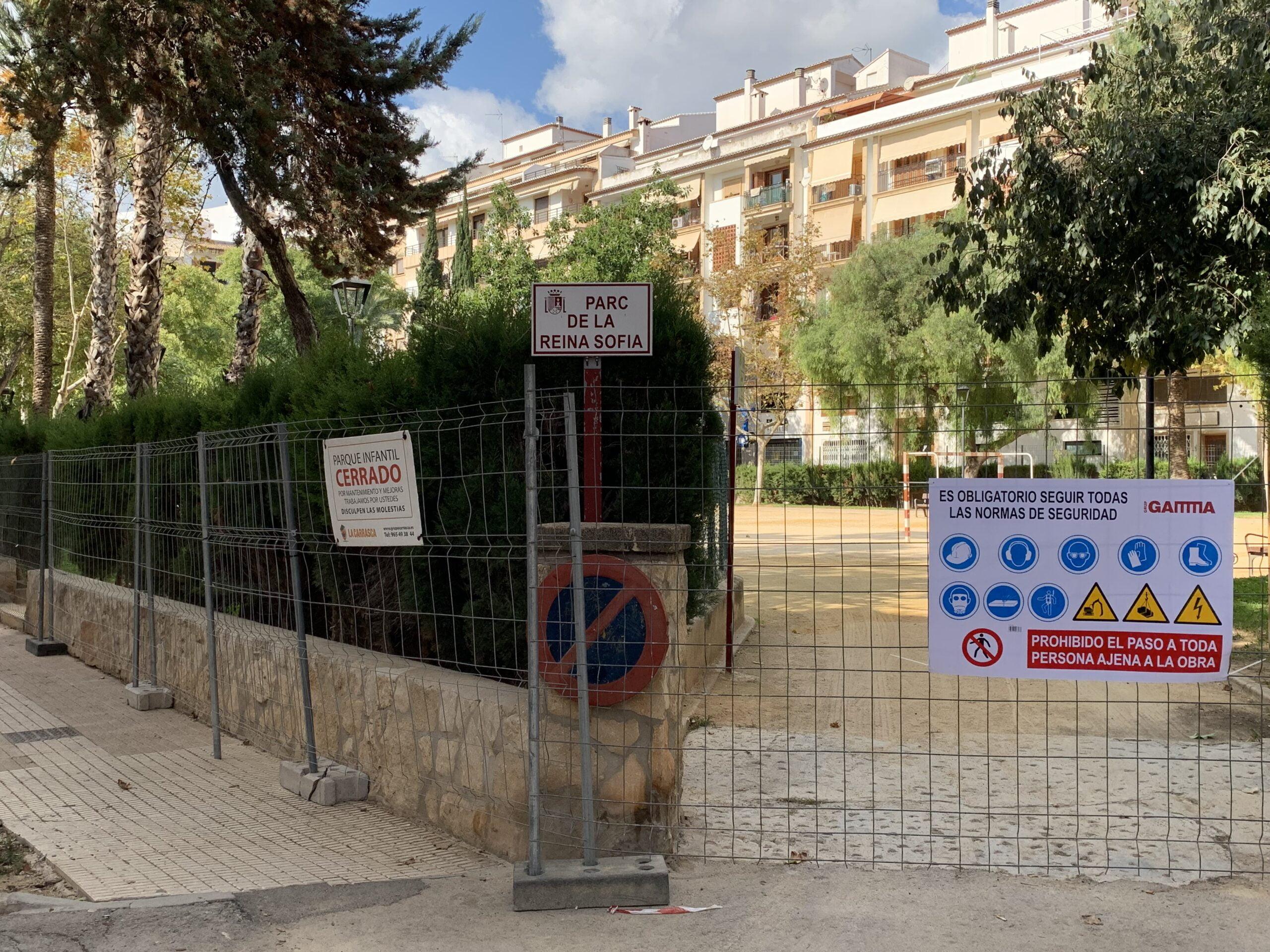 Cierran el acceso al parque thiviers para iniciar las obras de remodelación