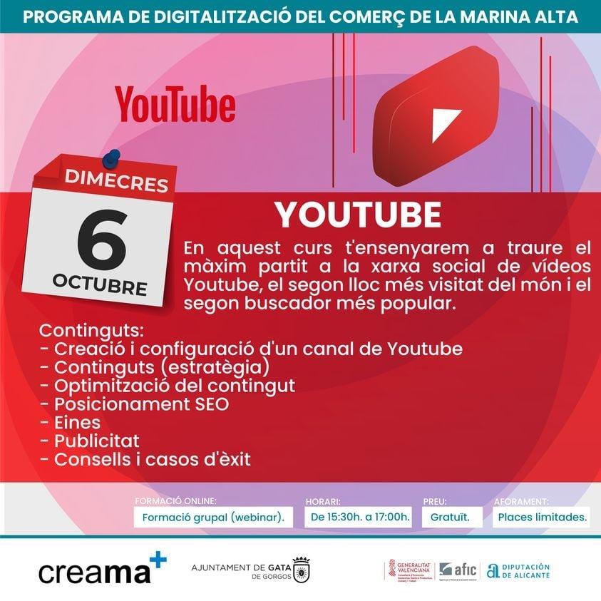 Creama organiza un charla sobre YouTube
