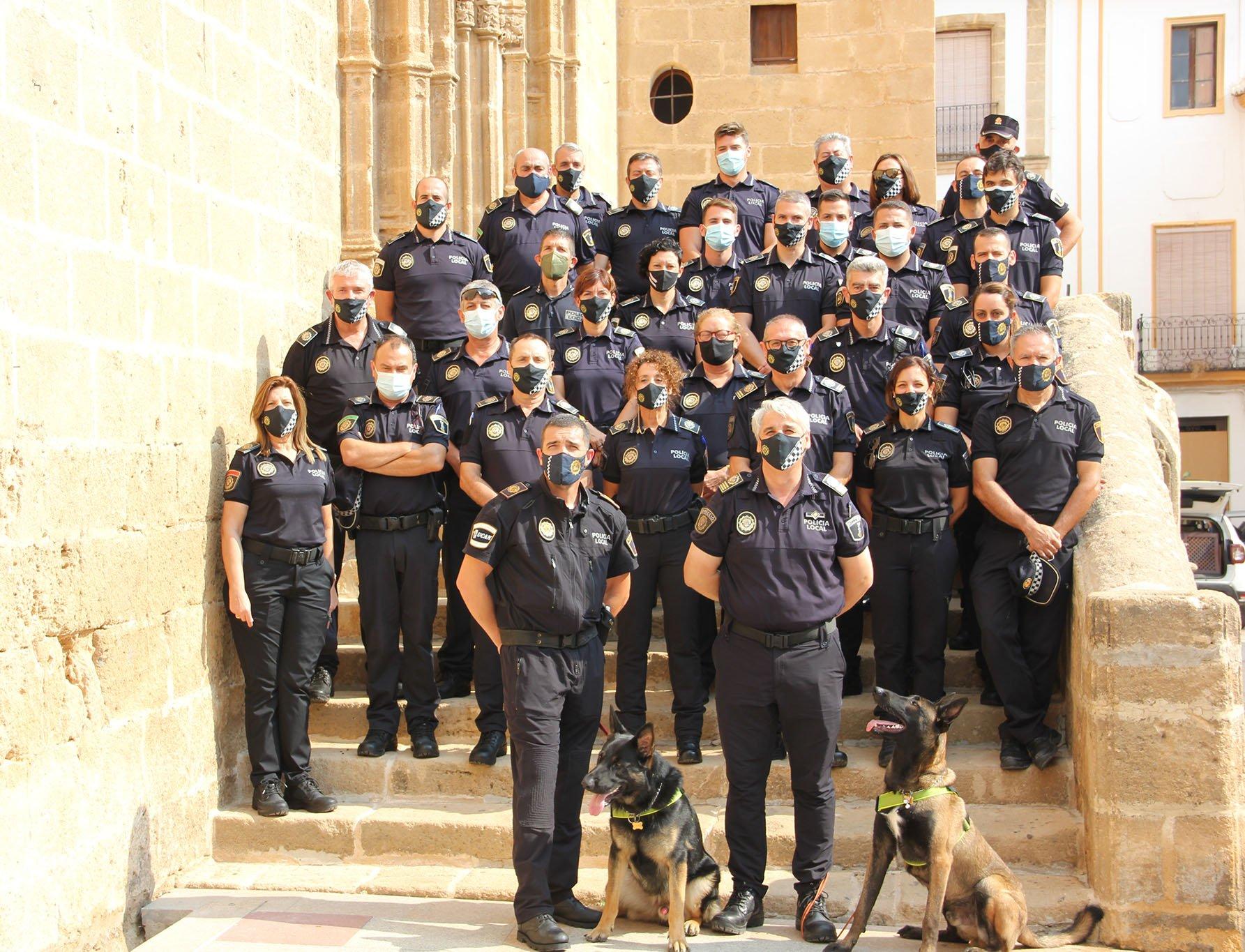 Cuerpo de la Policía Local de Xàbia en el día de los Ángeles Custodios 2021