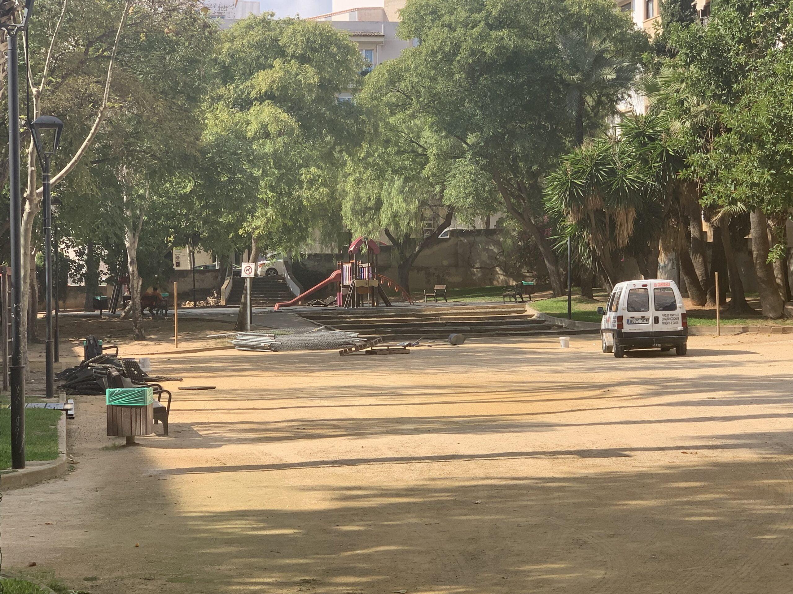 Inician los trabajos de remodelación del parque Thiviers