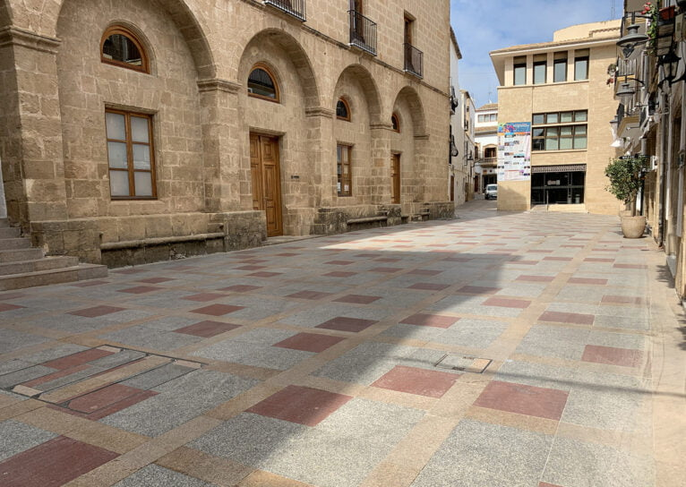 Plaça de Baix, en el centro histórico de Xàbia
