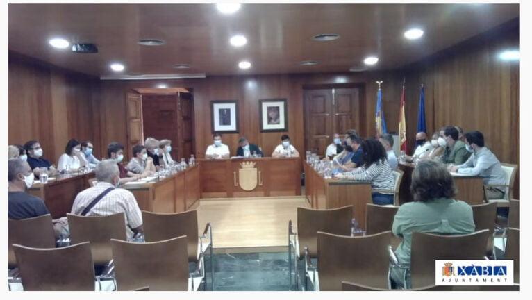 Pleno en el Ayuntamiento de Xàbia