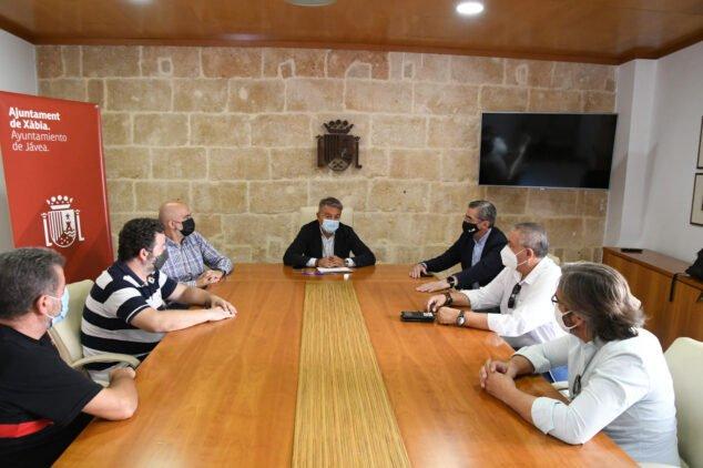 Imagen: Reunión con los responsables de Emergencias