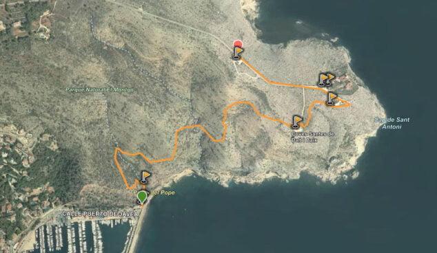 Imagen: Ruta Cabo San Antonio-puerto de Xàbia