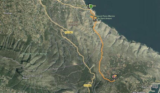 Imagen: Ruta Torre del Gerro -Molins de Xàbia